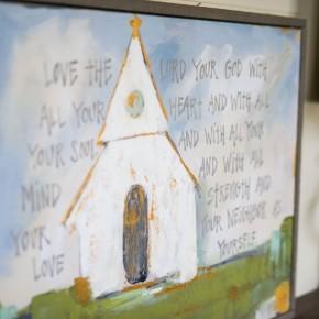 Church on a Hill Far Away Canvas