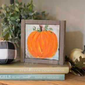 Fall Pumpkin Canvas