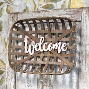 """Welcome"" Tobacco Basket"