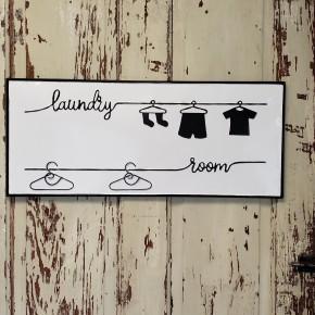 Enamel Laundry Room Sign