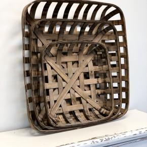 Brown Tobacco Basket