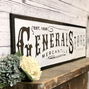 General Store Embossed Sign