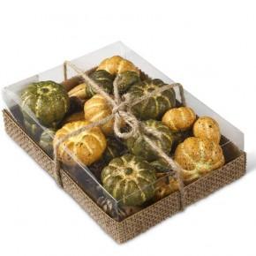 Box of Harvest Pumpkins (grn)