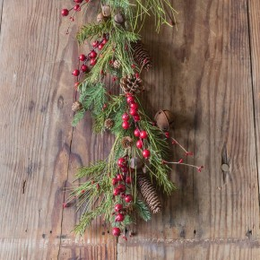 Jingle Bell and Pine Garland
