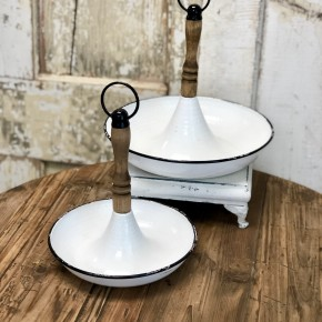 Enamel Table Topper with Handle