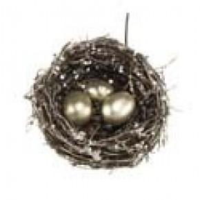 "5"" Birdnest With Gold Eggs"