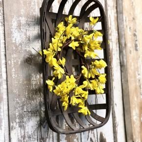 Tobacco Basket Wreath Combo