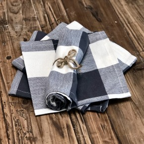 Cotton Buffalo Check Napkin Set of 4