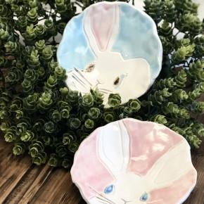 Handmade Pottery Bunny Bowl