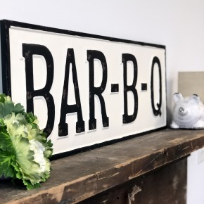 Bar-B-Q Embossed Sign
