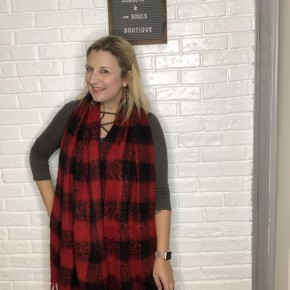 Checkmate Scarf - Red