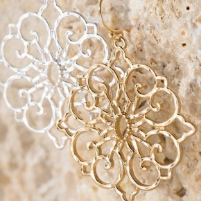 Hammered Filigree dangles