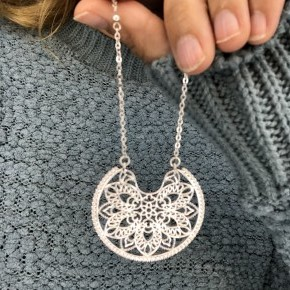 Moroccan Spoon Flower Necklace