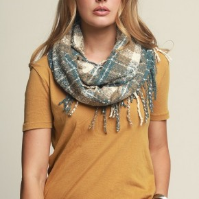 Plaid Fringe Infinity Scarf - more colors