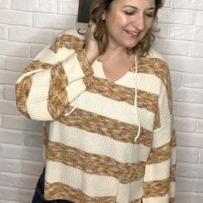 Gingerbread striped sweater