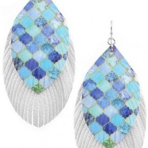 mermaid feather earrings