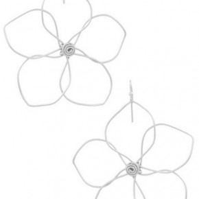 Wire Flower Dangles - gold OR silver