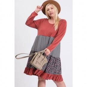 Multi Fabric Short Dress