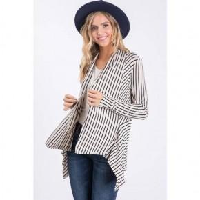 Vertical Stripe Cardigan
