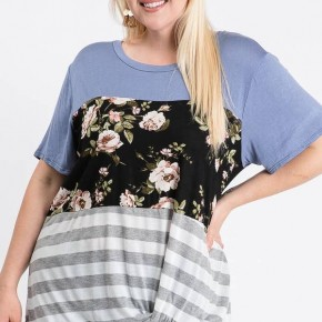 Plus size knotted front