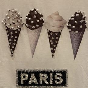 Paris Ice Cream Graphic Tee