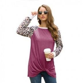 Long Sleeve Leopard Print Sleeve Top