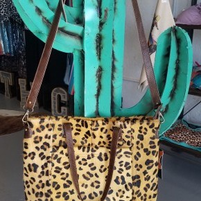 """""""The Wynona""""  Cheetah Tote Bag with Cross Body and CCG Pouch"""