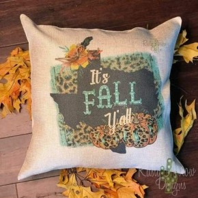 Texas It's Fall Y'all Pillow Case