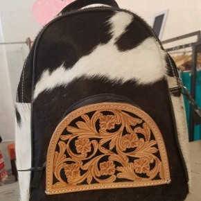 """""""The Waylon"""" Cowhide Tooled Leather Backpack"""
