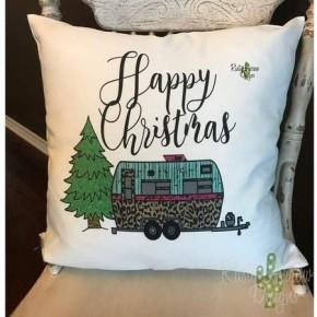 Merry Christmas Cheetah Camper Pillow Case