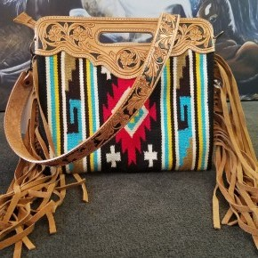 """""""The Dolly"""""""" Tooled Leather Purse Tote"""