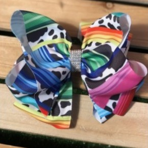 Girls Double Layered Hair Bow