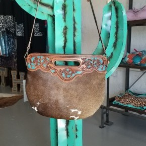 """""""The Betty"""" Tooled Leather Cowhide Purse/Tote"""