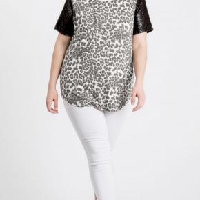 Animal Print Sequin Top - Black