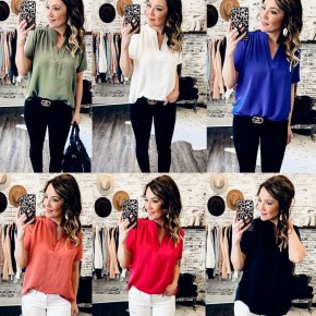 Short Sleeve Work To Weekend Tops - 6 Colors!