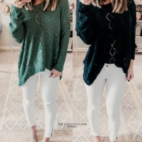 Detailed Knit Sweater- 2 COLORS