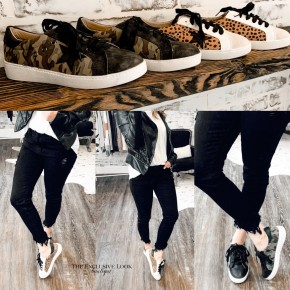 Moxie Star Low Top Sneakers- 2 COLORS