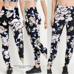 Tropical Floral Print Activewear