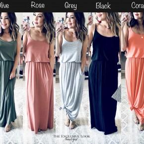 Maise Maxi Dresses- 5 COLORS