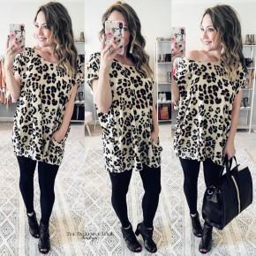 Leopard Tunic W/ Pockets