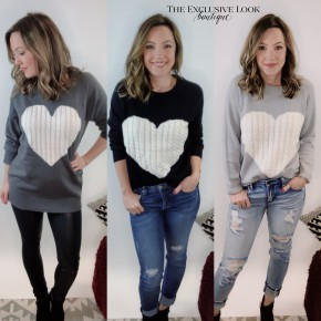 Have A Heart Sweater- 3 COLORS