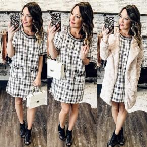 Plaid A-Line Dress
