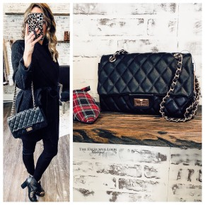 Black Quilted Bags- Small
