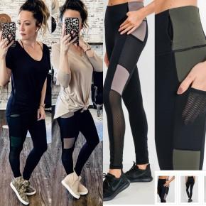 Color Block Full Length Workout Leggings