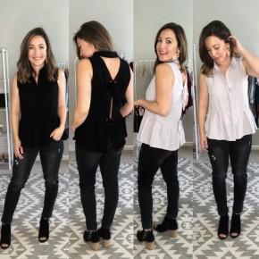 Rae Button Tie Back Top- 2 COLORS