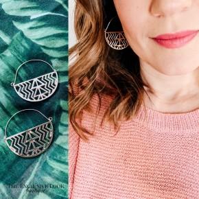 Tribal Circle Earrings- 2 colors