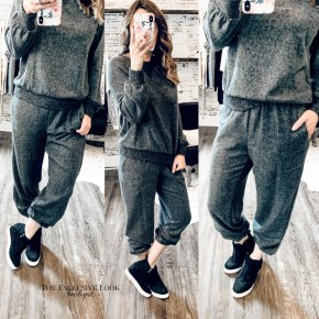 Charcoal Grey Stretchy Joggers