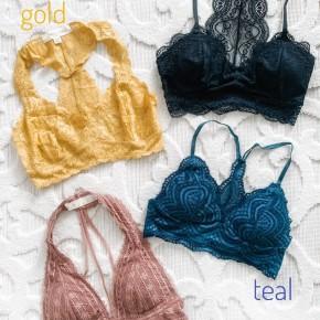 New Lace Bralettes- 4 colors