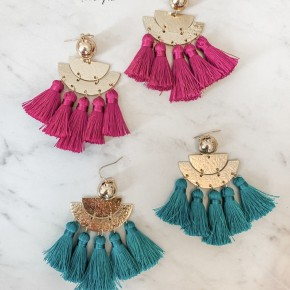 Tenley Tassel Earrings- 2 COLORS