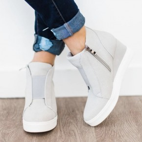 Light Grey Sneaker Wedges